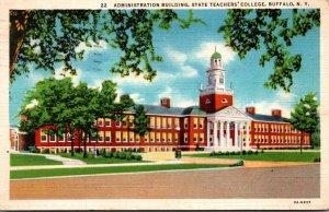 New York Buffalo Administration Building State Teachers' College 1939 Cu...