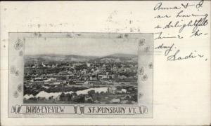 St. Johnsbury VT Birdseye View c1905 Postcard