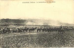 CPA Maroc Colonne Tadla Le bombardement de Sidi-Mellal (24915)