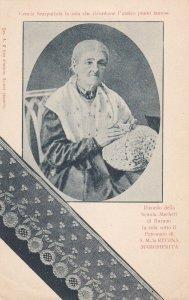 ITALY , 1901-07 ; Cencia Scarariola la sola she ricordasse l'antico punto fam...