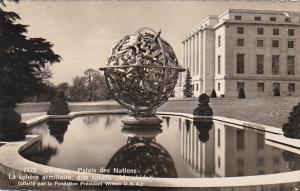 Switzerland Geneve Palais des Nations La Sphere Armillaire 1947 Photo
