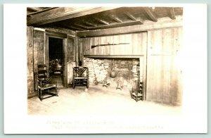 Boston Massachusetts~Paul Revere House~Living Room Fire Place~c1910 RPPC