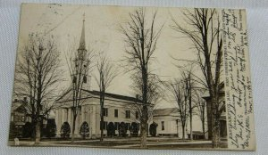 1905 Vintage East Hampton, Mass. First Congregational Church and Chapel. Tucks