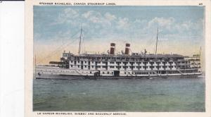 Steamer Richelieu , Canada Steamship Lines , Saguenay Service