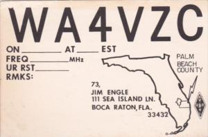 WA4VZC Jim Engle Boca Raton Florida