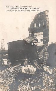 BC60800 Poland Lodz The Water Tower destroyed during WW1