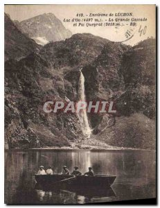 Postcard Old Surroundings of Luchon Lake Oo The Grand Cascade and Pic Queyrat