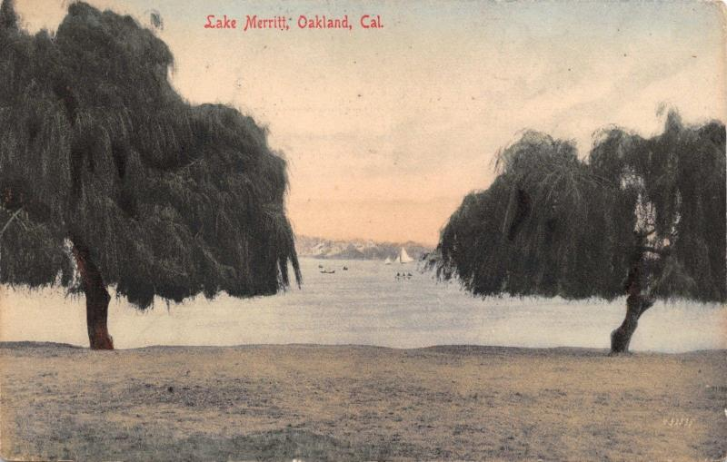Oakland California Lake Merritt~M Rieder #9124 POSTCARD 1918