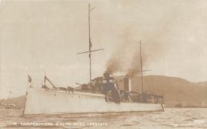 B47/ Italy Navy RPPC Postcard Ship c1920 R. Torpediniera D'Alto Mare Freccia 6