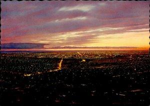JD0007 australia adelaide general view frommount osmond sunset light