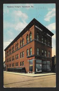 Masonic Temple Street View Tarentum PA Used c1916