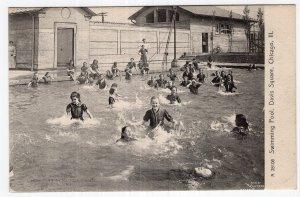 Chicago, Ill, Swimming Pool, Davis Square