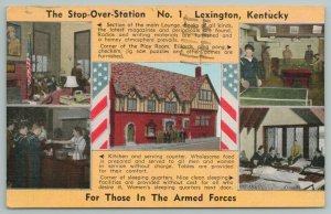Lexington Kentucky~Station~Main Lounge~Sleeping Facilities~Vintage Postcard