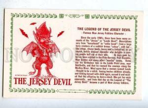 185502 Jersey DEVIL Legend postcard OLD PC