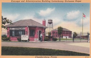 CHAMBERSBURG, Pennsylvania, 1930-1940's; Entrance And Adminstration Building ...