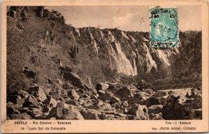 Angola Rio Cunene Postcard used 1927 Portuguese Angola with Stamp (8455)