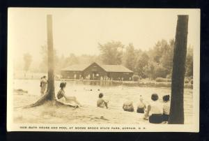 Gorham, New Hampshire/NH Postcard, Bath House & Pool, Moose Brook State Park