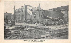 H6/ St Louis Missouri Postcard c1910 Tornado Disaster Grand Blvd Stores