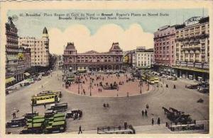 Belgium Brussels Place Rogier et Gare du Nord 1953