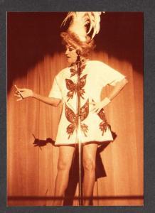 NV Comedian Phyllis Diller Sands Hotel Casino LAS VEGAS NEVADA Postcard PC