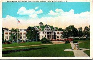 Washington D C Takoma Park Washington Sanitarium and Hospital 1935