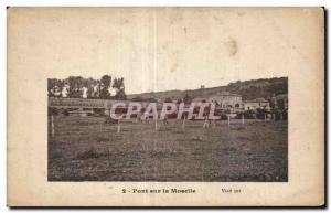 Old Postcard Other bridge over the Moselle