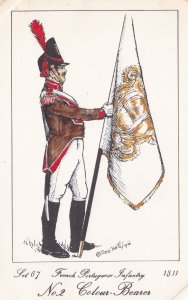 French Portuguese Infantry Army Colour Bearer Napoleonic War Soldier PB Postcard