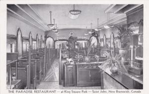 ST. JOHN, New Brunswick, Canada, 1910s; Paradise Restaurant Interior