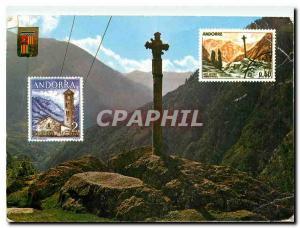 Postcard Modern Valls d'Andorra Cross of Gothic Mertixell