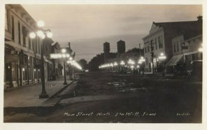 RP: DEWITT , Iowa , 1915 ; Main Street at Night