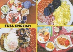 British Giant Full Breakfast Black Pudding Overeaters Postcard
