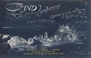 Ville de GAND, Fete Venitienne du 9 Juillet 1905 ; Belgium ; Le Dauphin L'Escaut