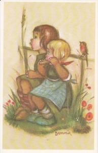 AS: Bonnie, Little Girls, Blonde Girl Playing the Harmonica, Bird Singing Bes...