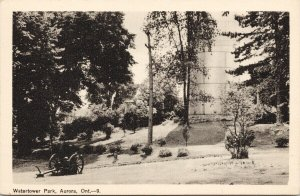 Watertower Park Aurora Ontario Unused Peco Postcard F49