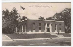 Post Office Linden New Jersey 1940s postcard
