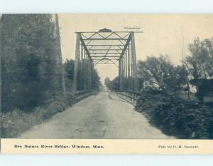 Divided-Back DES MOINES RIVER BRIDGE Windom By Fairmount & Worthington MN H9022