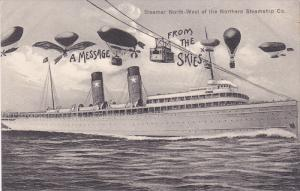 Balloons over Steamer NORTH-WEST , Northern Steamship Company , Ontario , C...