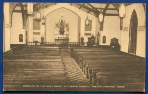 Fredericksburg Texas tx Interior Holy Ghost Lutheran Church Visitors Card