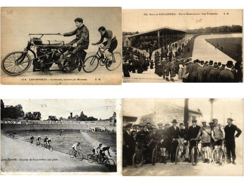 CYCLING BICYCLETTE VÉLO SPORT & RACING 12 CPA pre- 1940