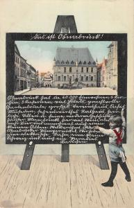 Osnabrucke Germany Old Town Hall Scene Square Antique Postcard K17573