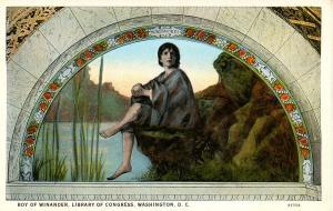 DC - Washington. Library of Congress Mural - Boy of Winander