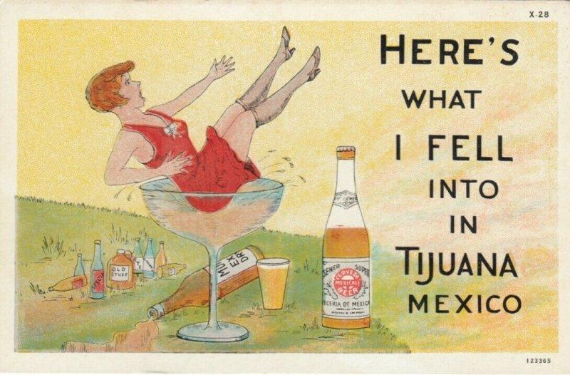 TIJUANA , B.C. , Mexico , 1930s ; Prohibition Comic