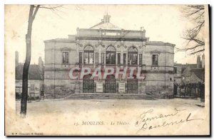Old Postcard Moulins Le Theater