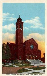 LP16  Carey  Ohio Postcard  Shrine Church Our Lady of Consolation