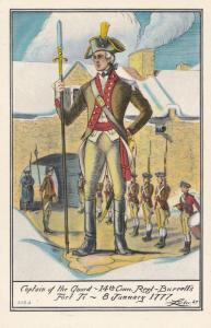 Captain Of The Fort American Revolutionary War 1777 Postcard