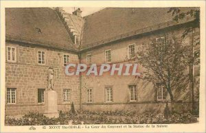 Old Postcard Mont Sainte Odile Convent of the Court and the Statue of St.
