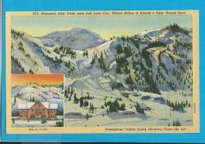 Postcard Mormon Temple Square  Salt Lake City Utah   # 217