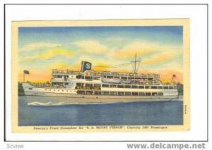 Steamship Ferry Boat  S.S. MOUNT WILSON  Wilson line,PU 1949 at Mount Vernon ...