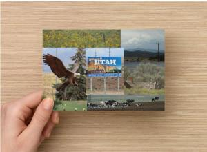 Roadside Scene Postcard (1 each), Road Trip Through Utah Farmland on Highway 15