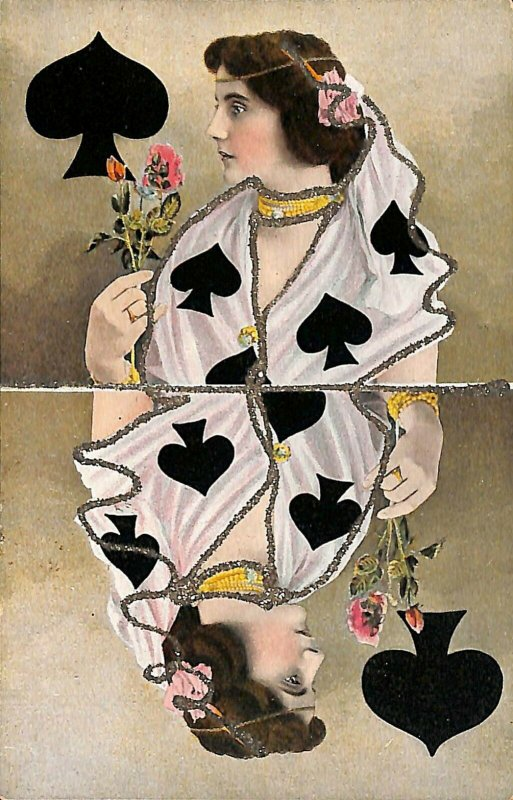 Queen of Spades Playing Card Postcard
